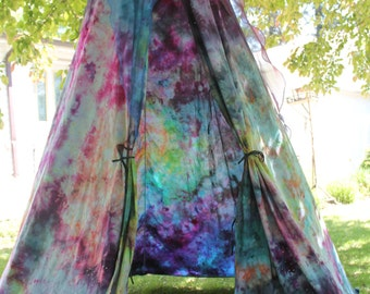 Galaxy star tent, starry night bed Canopy, Galaxy dyed bedroom decor