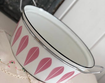 CatherineHolm large enamel stock pot pink lotus cookware Catherine Holm