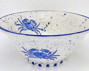 Large Serving Bowl. Serving. Dinner Party. Housewarming Gift. Wedding.Ceramic Pottery. Circle. Handmade by Sara Hunter