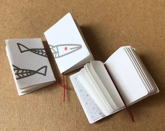3 Fish Sketchbooks Kit, 1:12 Scale Miniature