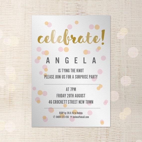 invitation indesign template