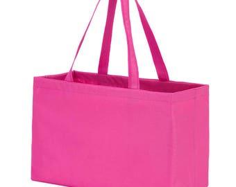 Monogram Beach Bag- Hot Pink Ultimate Tote | Oversized Beach Bag | Pool Bag | Overnight Bag | Graduation Gift | Wedding Gift