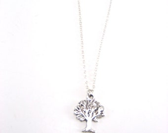 Tree Necklace, Tree Of Life Necklace,  Silver Tree Necklace, Plant Jewelry, Nature Lovers, Gift, Tree Jewelry, Apple Tree Necklace