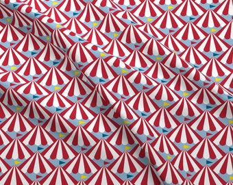 Circus Tents Fabric - Big Top!    Circus Carnival Flags Tents Stripes By Pennycandy - Circus Tent Cotton Fabric By The Yard With Spoonflower