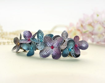 hydrangea hair clip, hair accessories