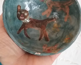 Sale! Kitty bowl with kitty angel
