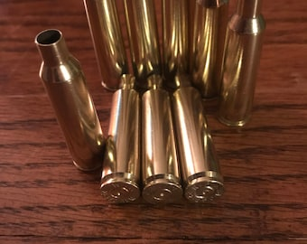 22-250 Polished Brass Casings 50 Count