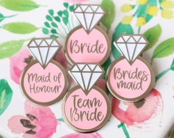Team bride badges / Hen party badges / Hen do badges / Bride to be badge / Hen party favours / Bride pin / Hen do pins / Hen party pins