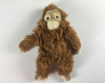 "Applause Plush Orangutang 1988 Plush Stuffed 12"" Toy Monkey 80s Collectible"