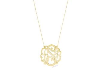Rose Gold  Monogram Necklace, MINI Monogram Necklace, SMALL Monogram, Personalized Necklace, Monogrammed Necklace, Personalized Jewelry