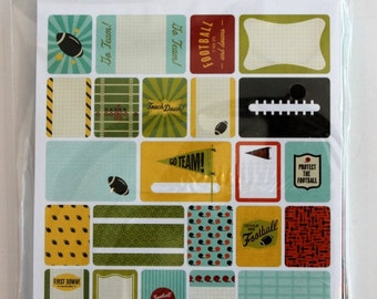 Football Project Life Theme Cards, Becky Higgins, American Crafts, Scrapbook Journal Cards