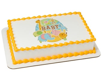 Safari Babies Edible Sheet Cake Topper
