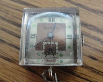 Crazy ad stream vintage Buren Pendant  Watch seven jewel recycled