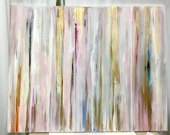 SOLD 48x60 Pink Champagne