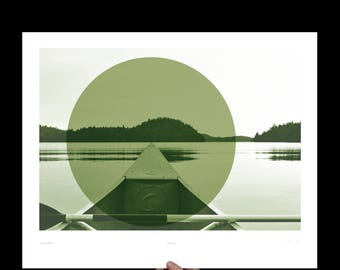 Canoe, Art Print, Canoe Art, Canoe Print, Lake House Decor, Rustic Cabin Decor, Nature Decor, Cabin Decor, Boundary Waters, Paddling