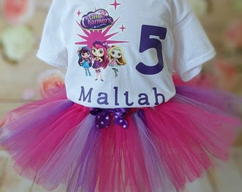 Personalized Little Charmers outfit, personalized birthday shirt , Little Charmers shirt, Little Charmers Shop birthday outfit, Little Charm