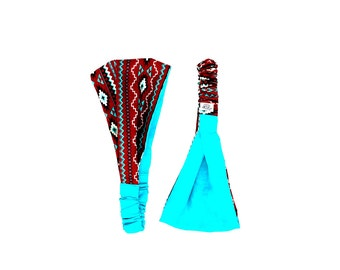 Southwest Headband - Reversible Headband - Headband - Running Headband - Zen Bird Band - Yoga Headband - Hair Accessory - Winter Style