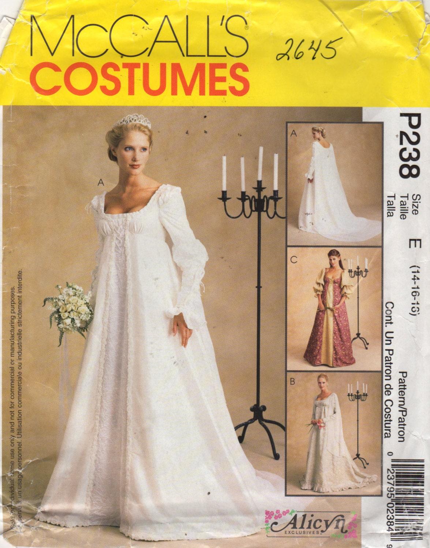 McCalls 2645 Misses Renaissance Hochzeitskleid Muster Alicyn