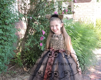 The Hair Bow Factory Cheetah Leopard Halloween Costume Tutu Dress Size 12-24 Months-14