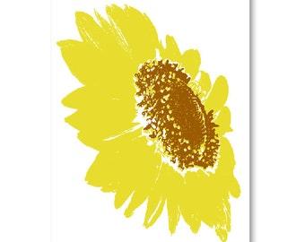 Shine like me  - Sunflower Fine Art Print, summer flower,  yellow sunflower