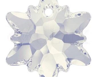 Swarovski 6748 Edelweiss Pendant  18 mm White Opal