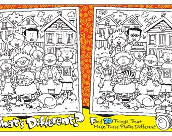 """WHAT""""S DIFFERENT COLORING Printable Kids Game 2"""
