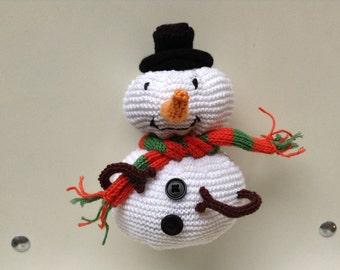 The colors of Christmas Snow snowman Doudou