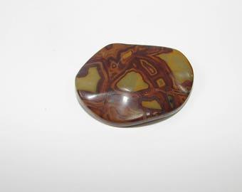 1 Pearl, Jasper artistic Brown puck 40.00 30.00 mm, sold individually. (9791033)