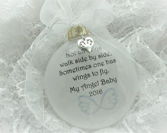 Miscarriage Christmas Ornament for Twin Baby - Not all Twins Walk Side by Side - Free Personalization and Charm