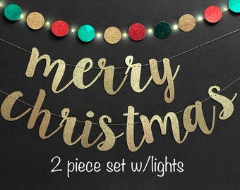 Merry Christmas banner, Christmas Banner, Christmas  garlands, custom banner, holiday banners, Merry & Bright Banner, Christmas decorations