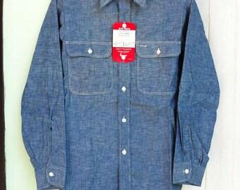 Vintage BIG MAC Chambray shirt Sz.14.5 Deadstock