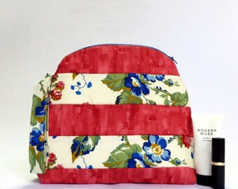 Cosmetics zippered pouch
