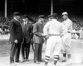 Umps and Managers, Giants and Red Sox World Series, Baseball - Vintage Photo (Art Print - Multiple Sizes Available)