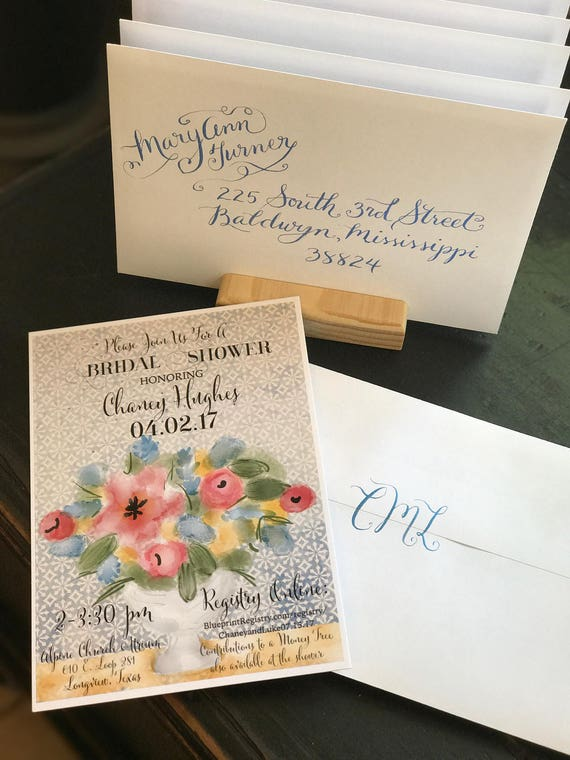 Wedding Calligraphy Envelopes / Custom Designed Wedding Invitations / Custom Handwritten Placecards, Escort Cards, RSVP envelopes, etc.