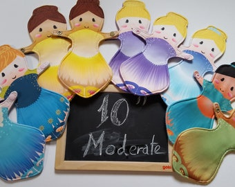 Moderate Cloth pad 10inch Doll Cloth Sanitary Pad CSP, Mama cloth, ballerina princess, first period gift, menarche