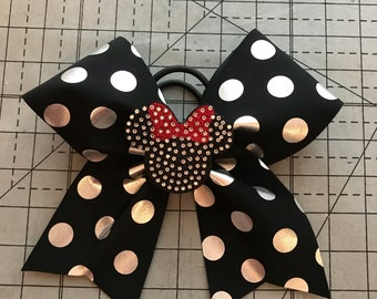 Minnie Mouse Cheer Bow with bling 3D Center
