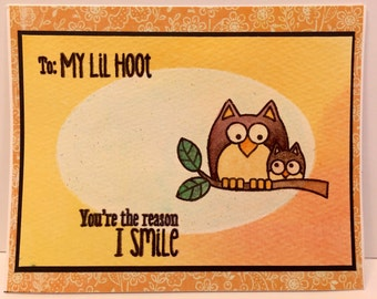 Handmade Greeting Card My little HOOT!