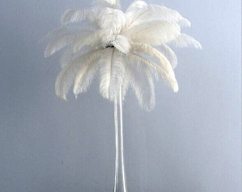 10 Off White Ostrich Feather  for Wedding centerpieces