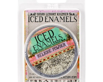 Iced Enamels relique powder, Ivory, .25oz