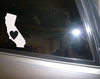 State Car decal, water bottle decal, laptop decal, Love California State Window Car Decal Vinyl Sticker New
