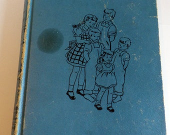 Five Little Peppers Midway by Margaret Sidney Vintage Book Blue Hardcover 1918