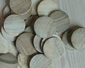 50 Unfinished Wood Discs Coins Circles - 4cm Diameter Unfinished Wooden Circle Cutouts(set of 50) Unfinished Wood Coins Unfinished Wood Disc