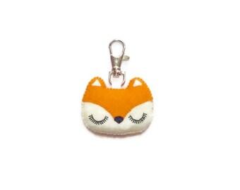 Fox Keyring - Animal Charm - Cute Fox -  Animal Keychain - Fox Charms - Fox Keychain - Mothers Day Gift
