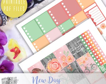 New Day Weekly Kit - Printable Stickers for ERIN CONDREN
