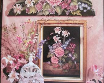 "Vintage Folk Art Decorative book "" Floral Portraits "" by Carol Empet 66 pages 1996 used book"