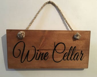 Hand painted sign suitable for indoors and outdoors