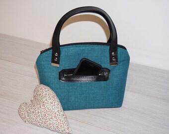 Teal 'Lola by Swoon' handbag