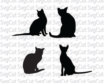 Cat Silhouette, Cats template, SVG cats, Kitten cut file, Black silhouettes, Commercial use svg, SVG designs for cricut, Cats Cut files
