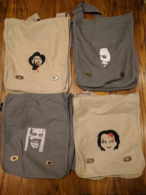 Custom Horror Messenger Bag