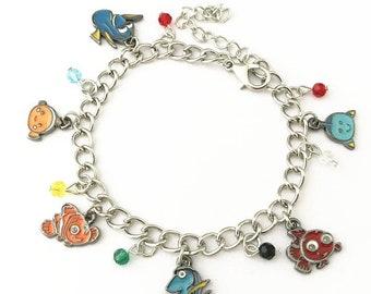 Finding Nemo inspired charm bracelet